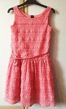 GAP Girls Salmon Pink Lace Covered Sleeveless Dress Size 13XL VGC