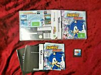 NINTENDO DS SONIC RUSH GAME IN CASE WITH MANUAL AUS SELLER PAL
