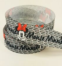 "BTY 1"" Disney Minnie Mouse Grosgrain Ribbon Hair Bows Lanyards Lisa"