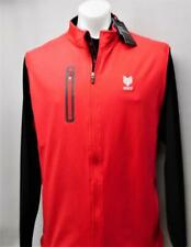 New Mens Levelwear XL THE DEAN red sleeveless full zip golf windvest London Hunt