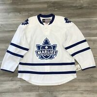 NEW! CCM TORONTO MARLIES AHL PRO STOCK HOCKEY GAME ISSUED JERSEY 56 WHITE AWAY