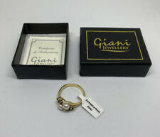 BNIB Ladies Giani Ring Pearl & Sapphire Ring Size R PU992