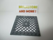 Lego - 1x Plate Plaque 8x8 Grill Grille 4151 Dark gray/gris/grau