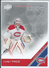 Carey Price  11/12 Upper Deck  Montreal Canadiens  #5  Base Card