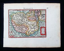 1601 A. ORTELIUS - rare map of BRABANT, BELGIUM, BRUSSELS, NETHERLANDS, HABSBURG