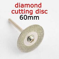 Durable 60mm Rotary Circular Saw Blade Diamond Cutting Disc Cutter Mandrel Tool