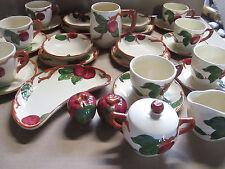 28 Franciscan Apple Pattern Mug Plates Cups Saucers Cream Sugar Crescent Bowls