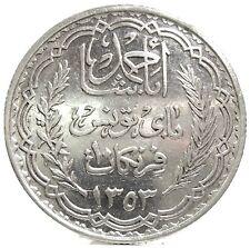 TUNISIA (Ahmad Pasha BEY) 10 Francs-AH 1353