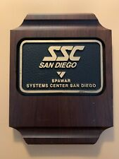 Vintage U.S. Navy SPAWAR Systems Center San Diego Presentation Plaque