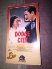 DODGE CITY VHS Errol Flynn Olivia de Havilland Anne Sheridan