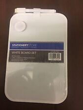 A5 MAGNETIC MEMO FRIDGE NOTICE WHITE BOARD DRY WIPE MARKER PEN HOLDER 16 x 21cm