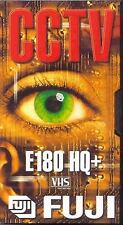 1 x Fuji E180 HQ+ VHS Blank Video Cassette Tape 180 Mins CCTV - BRAND NEW