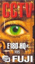 1 x Fuji E180 HQ+ VHS Blank Video Cassette Tape 180 Mins CCTV