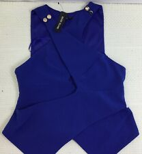River Island Womens Royal Blue Modernista Sleeveless Party Top Size 10 BNWT