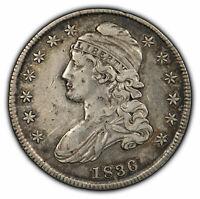 1836 50c Capped Bust Half Dollar - VF/XF Details - SKU-H1064