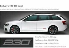 2x Red SKODA OCTAVIA VRS 230 Graphics Decal Stickers Other Colours Available too