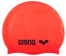 Arena Classique Silicone Fluo Rouge NATATION casquette. bonnets de bain bouchons