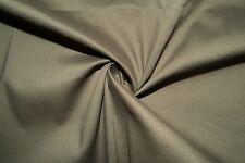 Olive Poplin #6 Cotton Lycra Spandex Stretch Woven Apparel Fabric BTY