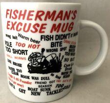 Vintage Fishermans Excuse Coffee Mug Cup