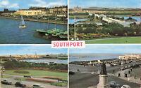 "Lovely Rare Vintage Postcard - Bridge/Lake/ Promenade ""Southport"" - England"