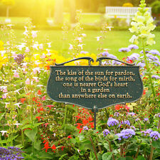 The Kiss of the Sun... Garden Poem Sign
