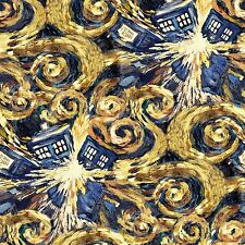 Bbc Dr. Who Exploding Tardis Premium 100% cotton fabric by the yard