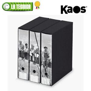 """KAOS set 3 raccoglitori ad anelli con custodia dorso 8cm """"OPERAI 2"""""""