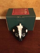 Slavic Treasures Large Skunk Head Hand-made Glass Ornament