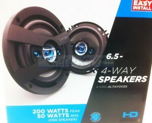 6.5 Car Speakers Front Door 4way (200w) 4ohm 6504-FD (E)