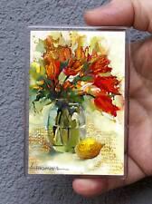 Stillleben/Kühlschrank oder Office Magnet/Kunstdrucke Maße:95x65mm L.Hahonina