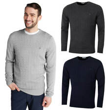 Calvin Klein Mens CK Cable Rib Knit Embroidered Sweater 36% OFF RRP