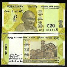 India 20 Rupees New Design Latest Issue Banknote in UNC