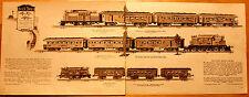 Original Vintage Ives Toys Train Catalog Page for Framing #4