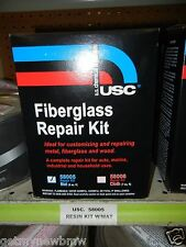 FIBERGLASS MATTE REPAIR KIT W/ MAT & RESIN USC 58005