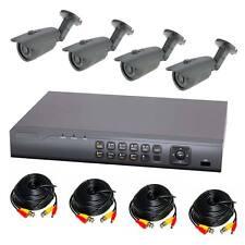 Komplettset 4-Kanal Digitaler Videorekorder und 4 x A7 Überwachungskamera Analog