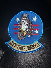 US NAVY F-14 TOMCAT ANYTIME, BABY...! PATCH