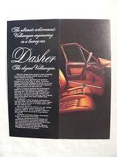 VW 1977 Dasher US-Passat - US-Prospekt Brochure 1976 USA englisch