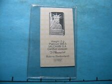 5 GRAM PLATINUM STATUE OF LIBERTY 999.5 CREDIT SUISSE MINT SEALED S/N # 019561