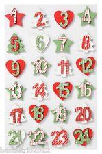 Numeri in legno-set 1-24 COLORATO ADVENTSKALENDER numeri Advent Calendario legno motivi Stella