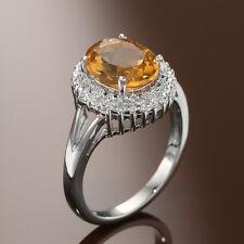 Les Bijoux 2.52 CTTW Citrine  Ring ~ Size 7