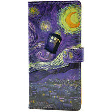 Tardis Doctor Who Starry Night Leather Wallet Stand Case For Samsung Galaxy S5