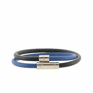 Louis Vuitton Keep It Double BraceletDamier Damier Graphite and Leather