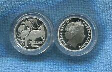2011 Silver Proof $1 Kangaroo Coin ex fine silver set ..