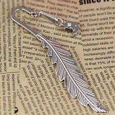 2pcs Polished Chrome Letter Opener Alloy Feather Smile Moon Bookmark Book Mark