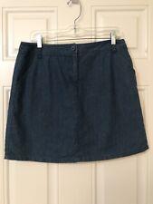 White Stag Skort Shorts Skirt Blue Chambray Denim Size 6