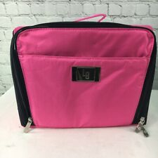 Ultimate Cosmetic Organizer Case Make-Up Bag Lori Greiner QVC Pink