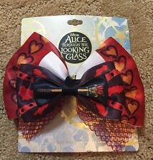 Disney Alice Through The Looking Glass Red Queen Cosplay Hair Bow Tie Clip NWT!