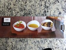 Serving Trio On Wood Tray