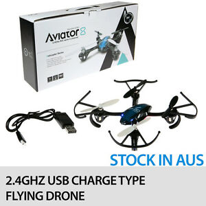 AVIATOR 2.4GHZ 14CM R/C FLYING DRONE WITH USB CHARGING