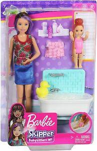 BARBIE Skipper Babysitters Inc. BATHTIME Playset With Bathtub and Figures